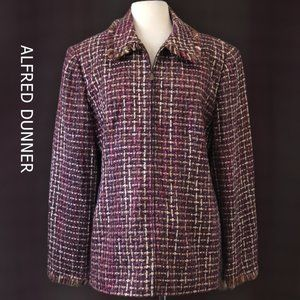 Alfred Dunner Multicolor Tweed Jacket Size 18